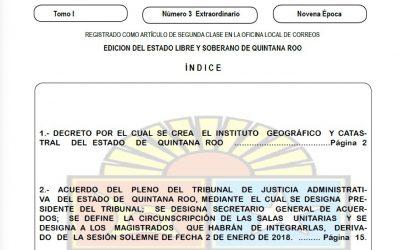 Nace el Instituto Geográfico y Catastral del Estado de Quintana Roo