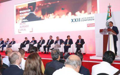 ((FOTOS)) El gobernador Carlos Joaquín asiste a la XXII Conferencia Latinoamericana de Banco Santander