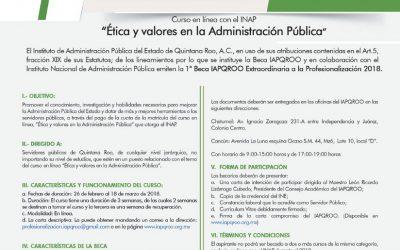 Emiten Convocatoria de la Primera Beca IAPQROO Extraordinaria para la Profesionalización 2018