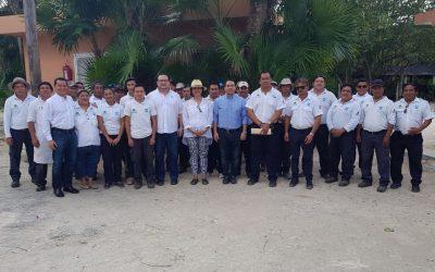 Nuevos directivos de la FPMC visitan el parque Chankanaab