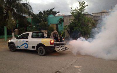 Para el control de las enfermedades transmitidas por vector, la SESA lleva a cabo la nebulización de más de 960 hectáreas en Playa del Carmen