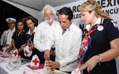 La Cruz Roja fortalece nuestro compromiso de corregir el rumbo de Quintana Roo: Carlos Joaquín
